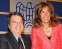 Renato Brunetta ed Emma Marcegaglia