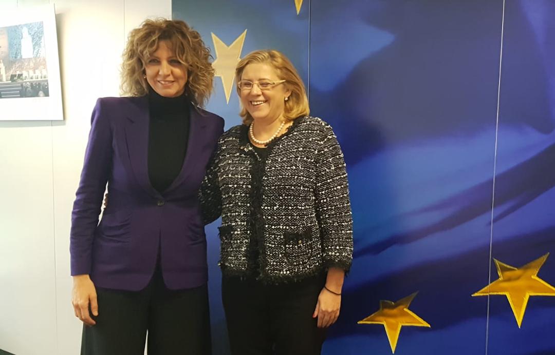 Barbara Lezzi e Corina Cretu, Bruxelles 23.01.2019