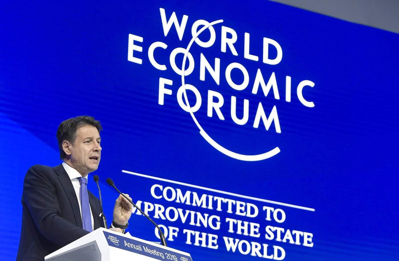 Conte a Davos - photo credit governo.it