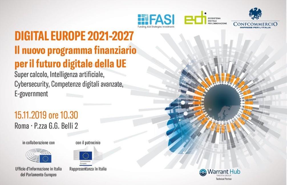 Digital Europe 2021-2027: appuntamento a Roma