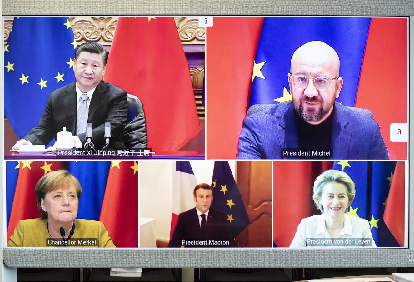 Videoconferenza UE-Cina sull'accordo sugli investimenti (CAI)