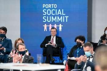 Draghi al Social summit di Porto - Credit: Palazzo Chigi